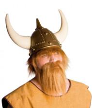 Barbe viking châtain clair