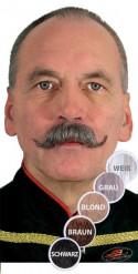 Moustache guidon grise