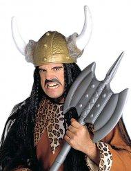 Casque viking avec fausse fourrure adulte