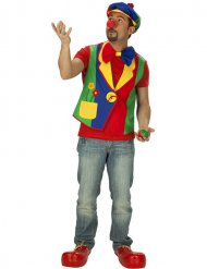 Gilet de clown multicolore homme
