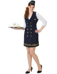 Déguisement uniforme hôtesse de l