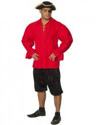 Chemise de pirate rouge pour homme