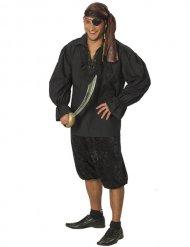 Chemise de pirate homme noire