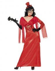 Déguisement femme vampire rouge