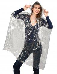 Poncho transparent imperméable avec capuche