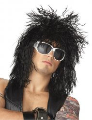 Perruque de rockeur noir