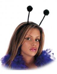 Serre-tête avec antennes noires adulte