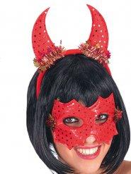 Masque et cornes de diablesse femme