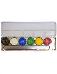 Palette de maquillage en métal 6 couleurs multicolore 30g
