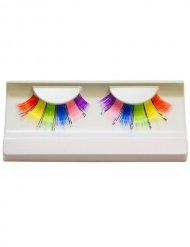 Cils arc-en-ciel 6 couleurs multicolore