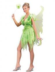 Déguisement fée sexy vert femme