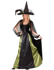 Déguisement sorcière femme noir et vert