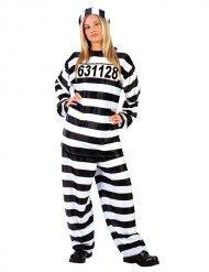 Déguisement Prisonnier pour femme noir et blanc