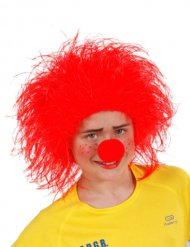 Perruque Clown enfant rouge