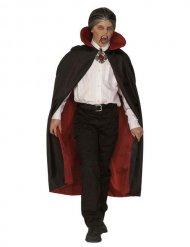 Cape vampire noire et rouge luxe enfant 115 cm Halloween