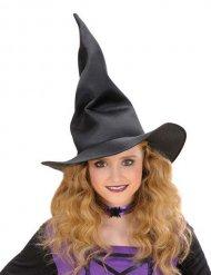 Chapeau noir de sorcière pliable pour enfant