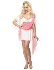 Déguisement Grèce antique rose blanc or femme