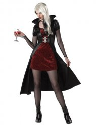 Déguisement vampire femme rouge Halloween