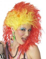 Perruque glamour rock années 80