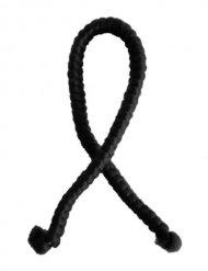 Cheveux artificiels laine noire