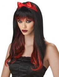 Perruque enchantée rouge et noire femme