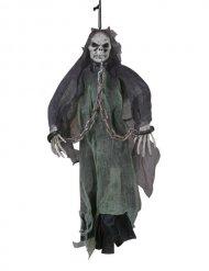 Squelette fantôme enchaîné à suspendre 51 cm Halloween