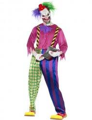 Déguisement clown psychotique multicolore homme Halloween