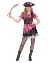 Déguisement de pirate pour fille rose et noir