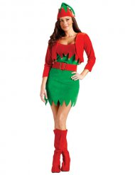 Christmas Elf Costume for Women Gnome green-red