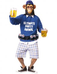 Déguisement Ultimate Party Animal singe ceinture de bières