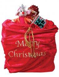 Hotte rouge de Père Noël