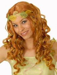 Perruque fée rousse aux mèches vertes femme