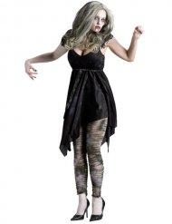 Déguisement zombie sexy noir femme