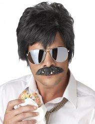 Perruque noire et moustache noire détective privé