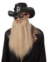 Longue barbe blonde rockeur