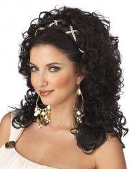 Perruque déesse grecque cheveux noirs