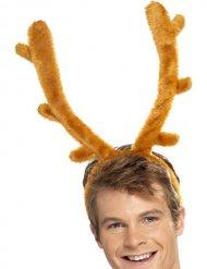 Serre-tête renne en peluche adulte Noël