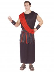 Déguisement homme Rome Antique rouge et noir
