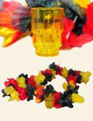 Collier de fleurs Allemagne avec verre à shooters