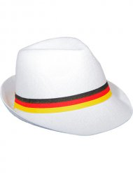 Chapeau de fan de football allemand blanc et multicolore Adulte