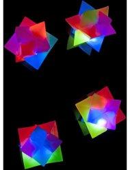 Balle géométrique lumineuse 4 cm
