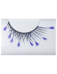 Faux-cils plumes violet
