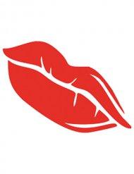Pochoir de maquillage lèvres rouges
