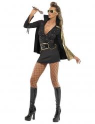 Déguisement Elvis Presley™ noir femme