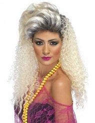 Perruque longue bouclée années 80 femme