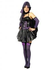 Déguisement chauve-souris sexy noir violet femme