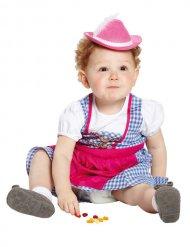 Tyrolean Mini Hat Hat for Children pink-white