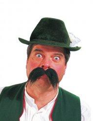 Moustache bavaroise longue noire