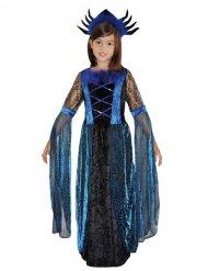 Déguisement reine des araignée noir et bleu fille Halloween