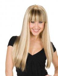 Accessoire perruque femme frange blonde